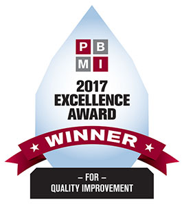 2017 PBMI Excellence Award in Quality Improvement